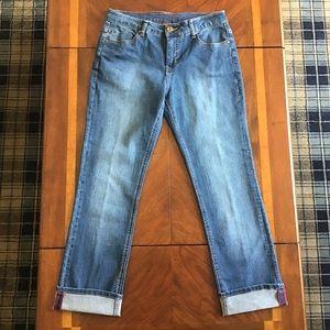 Liverpool Jeans Astrid Wide Cuff Crop Jeans